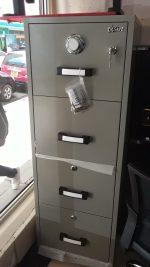 4 Drawer Fire Proof Safe Cabinet