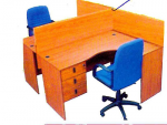 4 Way Work Station Curved