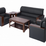 5 Seater Sofa Set-Wooden ARMS