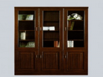 Executive 3 Door Book Shelf Mahogany