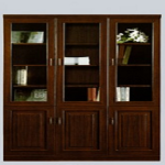 Executive 3 Door Book Shelf Mahogany